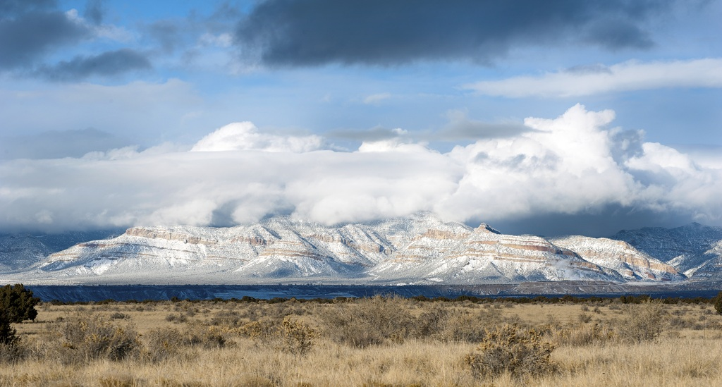 Winter Desert Mountainscape