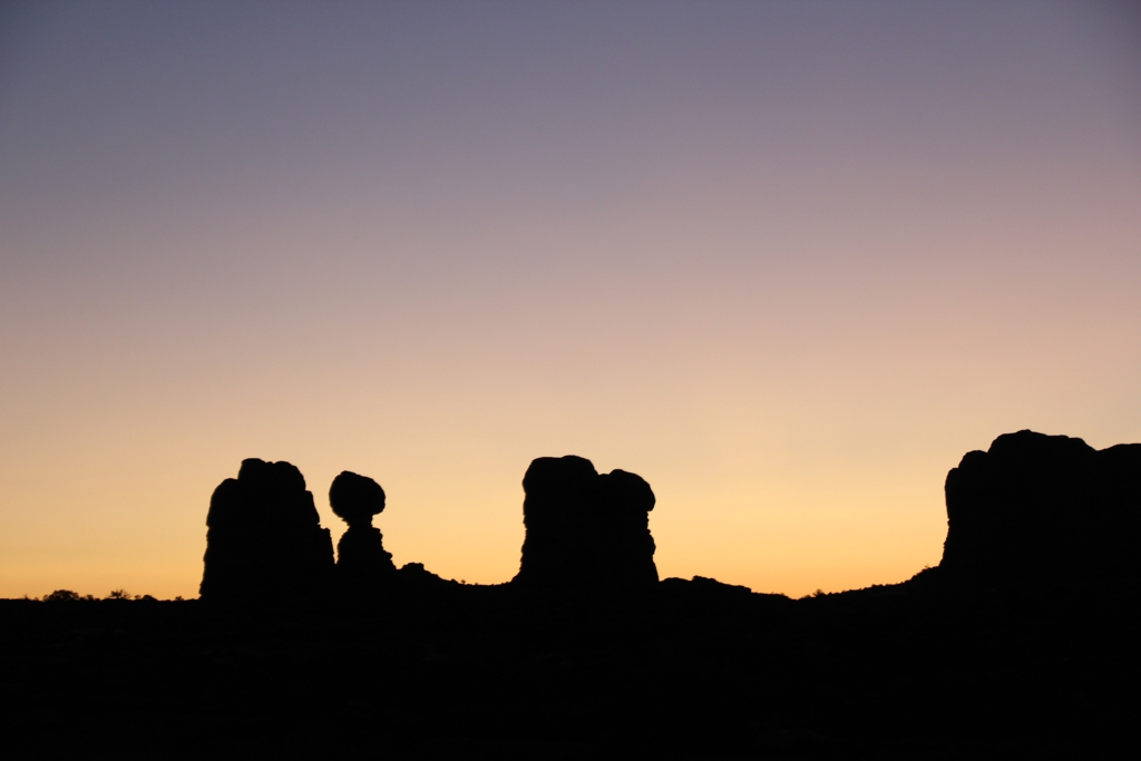 Balanced Rock Silhouette